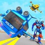 Flying Bus Robot Transform War Mod Apk